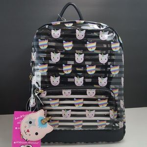 NEW!Luv Betsey by Betsey Johnson Clear Backpack